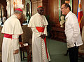 President Aquino with Robert Cardinal Sarah during the courtesy call at the Music Room of Malacañan Palace (5).jpg