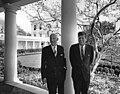 President John F. Kennedy with Ambassador of Switzerland, Alfred Zehnder.jpg