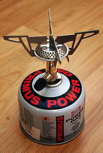 Outdoor cooking - A gas cartridge portable stove