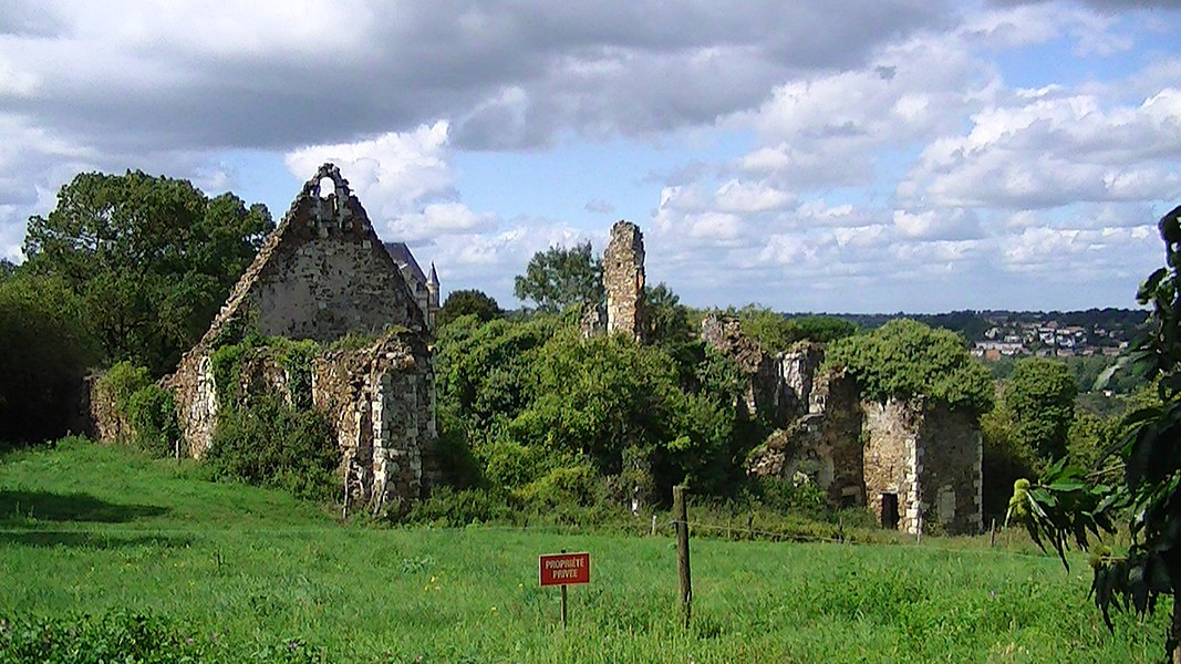 Ruins of the Priory of Saint-Jean in the Chateau de Champtoceaux