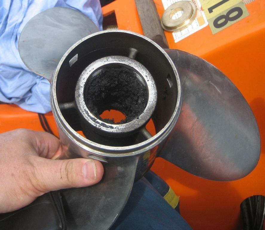 Propeller rubber bush failed