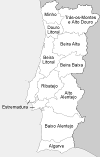 Provinces of Portugal - The provinces as established in 1936