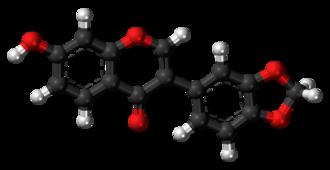 Pseudobaptigenin - Image: Pseudobaptigenin 3D balls