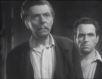 Guido Celano - Aldo Silvani and Guido Celano (on right)  in the film Four Steps in the Clouds (1942)