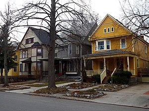 Elmwood Village, Buffalo - Queen Anne-style architecture that is common in the Elmwood Village