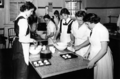 Queensland State Archives 1636 Domestic Science High School Brisbane Cookery Class April 1951.png