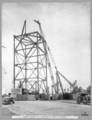 Queensland State Archives 3613 North anchor arm erection of tower traveller Brisbane 14 December 1937.png