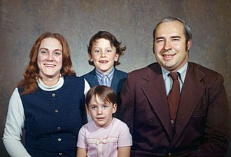 R. Budd Dwyer - Dwyer with his family