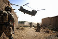 RAF Chinook Extracting Troops in Afghanistan MOD 45155516.jpg