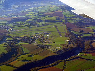 RAF Colerne - The airfield from above