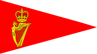 Burgee - Burgee of the Royal Cork Yacht Club, the world's oldest yacht club.