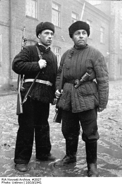 RIAN archive 2027 Moscow workers-militiamen