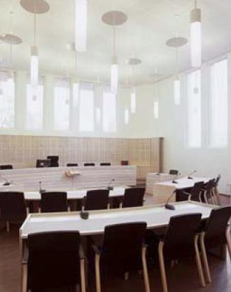 Judicial system of Finland - The courtroom of Raasepori District Court