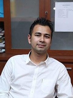 Raffi Ahmad Indonesian presenter, actor, and singer
