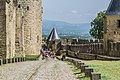 Ramparts of the historic fortified city of Carcassone 13.jpg