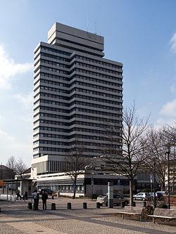 Außenansicht des Rathauses in Kaiserslautern