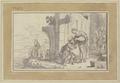 Rebekka gibt Abrahams Knecht Eliezer zu trinken (SM 13333z).png
