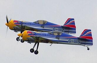 Sukhoi Su-26 - Two Sukhoi Su-26Ms of the UK Red Bull Matadors