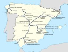 Red española alta velocidad