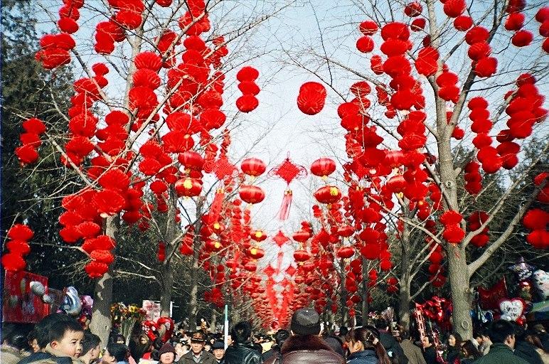 Red lanterns, Spring Festival, Ditan Park Beijing