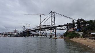 Hercilio Luz Bridge - Restoration work in February 2017