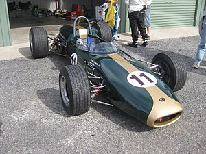 1965 Australian Drivers' Championship - The Repco Brabham BT11A with which Bib Stillwell won the 1965 championship. The car is pictured in 2012.