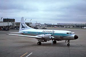 Republic Airlines (1979–1986) - Republic Airlines Convair 580 in 1979
