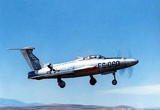 Republic F-84F Thunderstreak - The Republic XF-84H Thunderscreech prototype