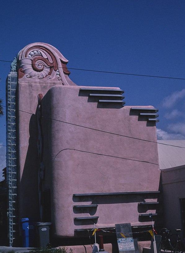 Retro deco building, Route 41, Morro Bay, CA
