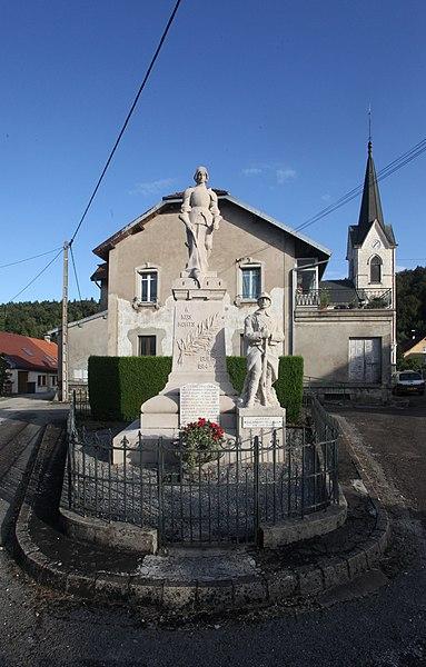 Monument aux morts de Reugney (Doubs).