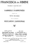 Riccardo Zandonai - Francesca da Rimini - title page of the libretto - Milan 1914.png