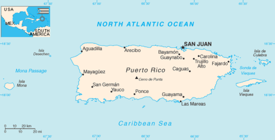 Puerto Rico Wikipedia - Map of puerto rico caribbean islands