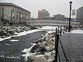 Riffles in Van Der Donck Daylighting Park in Winter, Getty Square neighborhood, Yonkers, New York.JPG