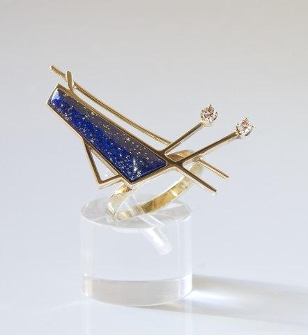 Ring With Lapis Sapphire Topaz Emerelde