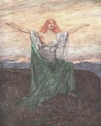 The valkyrie Sigrdrífa says a pagan Norse pray...