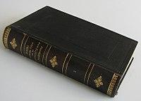 The first volume of Ritschl's Christliche Lehre von der Rechtfertigung und Versöhnung. (Source: Wikimedia)