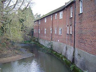 River Ember - River Ember (preserved upper corollary channel) beside the Ember Mill