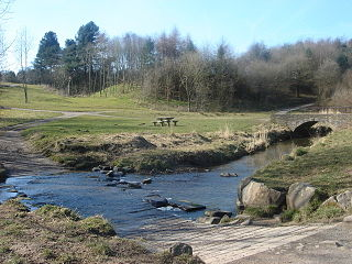 River Lostock river in Lancashire, United Kingdom