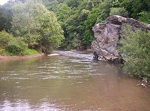 Vlasina (river) - River Vlasina, location: Pukli kamen