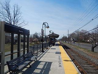 Riverton station train station in Riverton, New Jersey