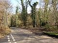 Road junction at end of bridleway across Hydon Heath, Hambledon - geograph.org.uk - 145214.jpg
