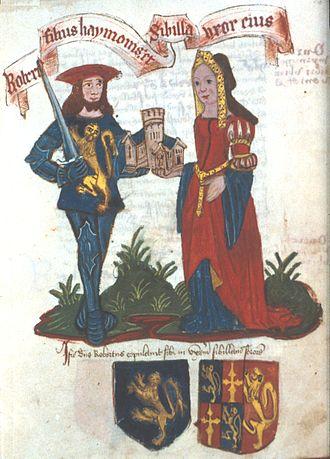 Robert Fitzhamon - Image: Robert Fitz Hamon Bodleian MS Top Glouc D2