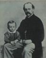 Robert Hauptmann mit seinem Sohn Gerhart.png