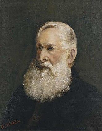 Robert Hoddle - Robert Hoddle, oil painting by his daughter Agnes McDonald circa 1888