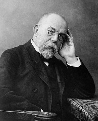 Paul Ehrlich - Robert Koch, around 1900