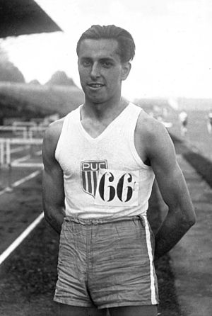 Robert Marchand (athlete) - Robert Marchand in 1928