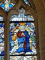 Roberval (60), église Saint-Remy, croisillon sud, verrière n° 6, 2e régistre, droite - Assomption.JPG
