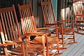 Rocking chairs on cabin porch Shenandoah River State Park (16265410809).jpg