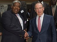 IMF Managing Director Rodrigo Rato meeting with The Republic of Zambia's President Levy Mwanawasa.