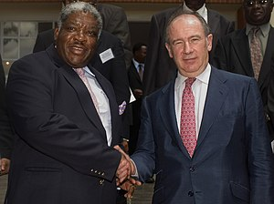 Foreign relations of Zambia - International Monetary Fund managing director Rodrigo Rato meeting with the Republic of Zambia's President Levy Mwanawasa.